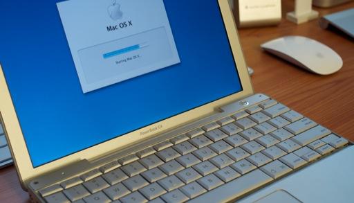 Diseño de la PowerBook que lanzó Apple en el 2003